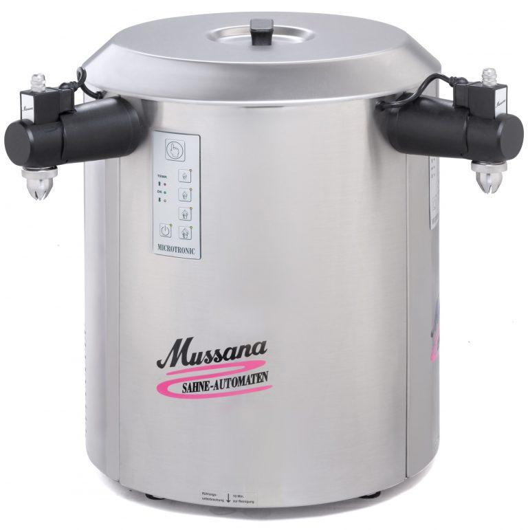 Professionele slagroommachine met 2 tapkranen van het merk Mussana